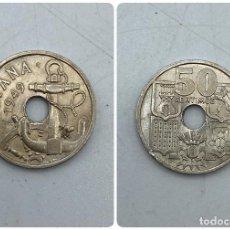 Monedas Franco: MONEDA. ESPAÑA. 50 CENTIMOS. 1949. ESTRELLAS LEGIBLES *19-51*. FLECHAS INVERTIDAS. S/C. VER. Lote 254679340