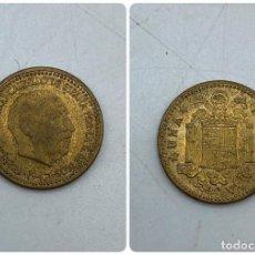 Monedas Franco: MONEDA. ESPAÑA. FRANCISCO FRANCO. 1 PESETA. 1947. ESTRELLAS LEGIBLES *19-54*. S/C. VER. Lote 254679855