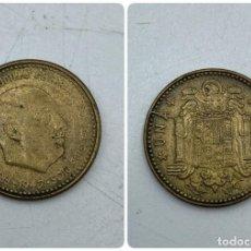 Monedas Franco: MONEDA. ESPAÑA. FRANCISCO FRANCO. 1 PESETA. 1947. ESTRELLAS LEGIBLES *19-53*. S/C. VER. Lote 254680160