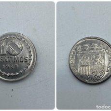Monedas Franco: MONEDA. ESPAÑA. REPUBLICA ESPAÑOLA. 10 CENTIMOS. 1938. VER FOTOS. Lote 254719015