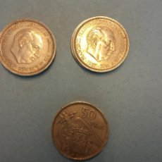 Monedas Franco: LOTE DE 5 MONEDAS. FRANCISCO FRANCO CAUDILLO. 50 PESETAS.. Lote 254932805