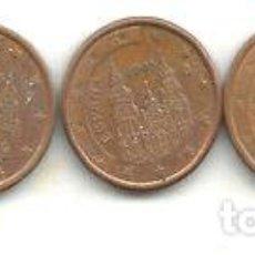 Monedas Franco: M 12362 ESPANA EURO LOTE 5 MONEDAS UN CENTAVO. Lote 255291710
