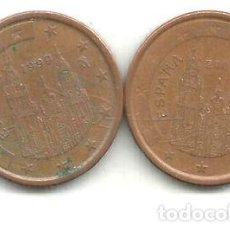 Monedas Franco: M 12352 ESPANA EURO LOTE 2 MONEDAS 5 CENTAVOS 19992006. Lote 255293990