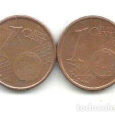 Monedas Franco: M 14351 ESPANA EURO LOTE 2 MONEDAS UN CENT 1999 2013. Lote 255297280