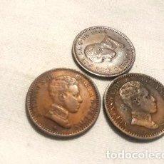 Monedas Franco: MONEDAS ANTIGUAS ESPANA 2 CENTIMOS ANOS 190412 LOTE X 3. Lote 255301955