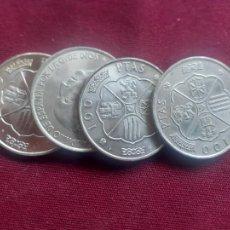 Monedas Franco: LOTE DE 4 MONEDAS SC SIN CIRCULAR BRILLO ORIGINAL. 100 PESETAS DE PLATA DE 1966 FRANCISCO FRANCO. Lote 255376800