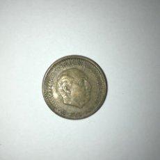 Monedas Franco: E2. MONEDA DE 1 PESETA DE 1963 *64 ERROR DESCENTRADA. Lote 255545465