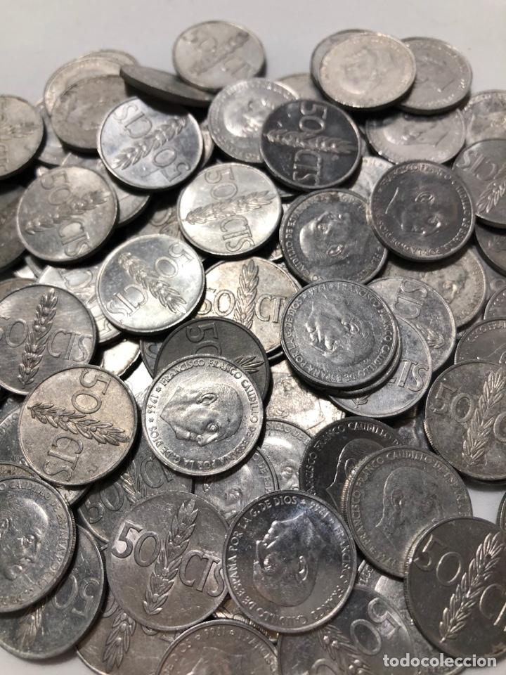 Monedas Franco: 100 monedas de 50 céntimos de 1966. Sin clasificar - Foto 2 - 255644695