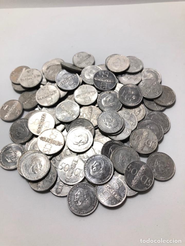 Monedas Franco: 100 monedas de 50 céntimos de 1966. Sin clasificar - Foto 3 - 255644695