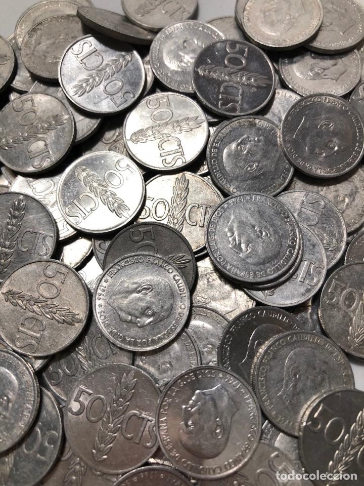 100 MONEDAS DE 50 CÉNTIMOS DE 1966. SIN CLASIFICAR (Numismática - España Modernas y Contemporáneas - Estado Español)