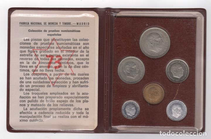 CARTERA MONEDAS AÑO 1957 CON ESTRELLA 73* (Numismática - España Modernas y Contemporáneas - Estado Español)