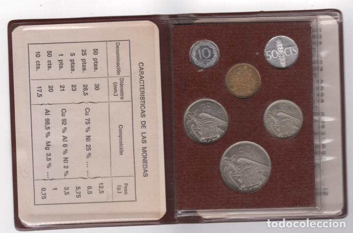 Monedas Franco: Cartera monedas año 1957 con estrella 73* - Foto 2 - 256001460