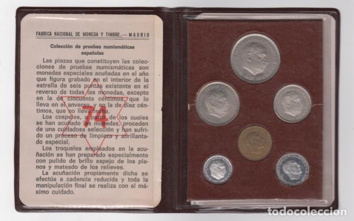 CARTERA MONEDAS AÑO 1957 CON ESTRELLA 74* (Numismática - España Modernas y Contemporáneas - Estado Español)