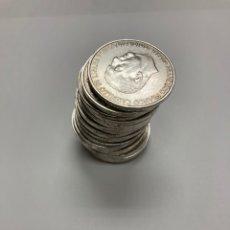 Monedas Franco: 19 MONEDAS DE FRANCO EN PLATA AÑO1966*66 BUENA CONSERVACIÓN PESO 360 G. Lote 256028620