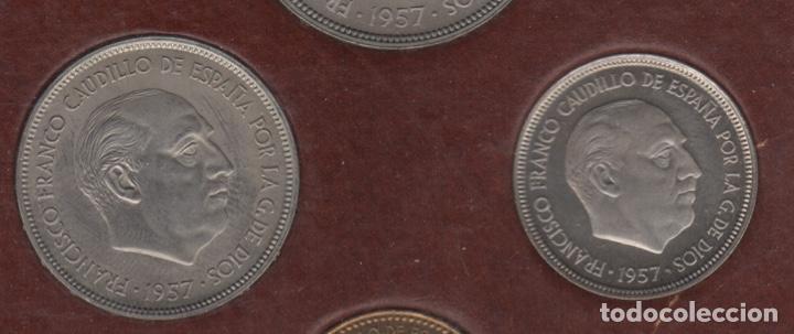Monedas Franco: Cartera monedas año 1957 con estrella 73* - Foto 4 - 256001460
