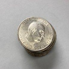 Monedas Franco: LOTE 12 MONEDAS DE 100 PESETAS DE PLATA FRANCO 1966 ESTRELLAS 19-67. Lote 257495670