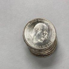 Monedas Franco: LOTE 10 MONEDAS DE FRANCO 1966 EN PLATA ESTRELLA 19-70. Lote 257497180