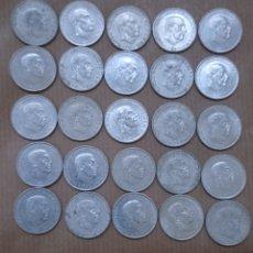 Monedas Franco: 25 MONEDAS DE 50 CTS FRANCO 1966. Lote 257542945