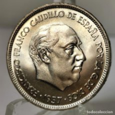 Monedas Franco: ⚜️ B2230. SIN CIRCULAR. PRECIOSO COLOR. 25 PESETAS 1957 *70. AC395. Lote 257544745