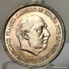 Monedas Franco: ⚜️ 25 PESETAS 1957 *69. EBC++ / SIN CIRCULAR MENOS. BONITO COLOR. AC389. Lote 257545090