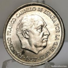 Monedas Franco: ⚜️ 25 PESETAS 1957 *69. EBC+ / EBC++. AC387. Lote 257545215