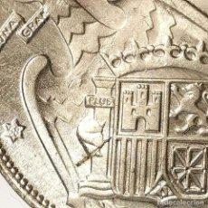 Monedas Franco: ⚜️ 25 PESETAS 1957 *68. EBC+ / SIN CIRCULAR MENOS. ERROR DOS PLUMAS ALA IZQUIERDA. AC385. Lote 257545380