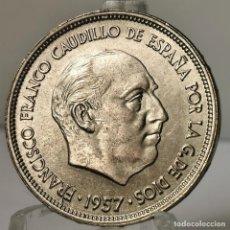 Monedas Franco: ⚜️ 25 PESETAS 1957 *68. EBC++. AC384. Lote 257545460