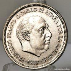 Monedas Franco: ⚜️ 25 PESETAS 1957 *68. EBC+ / SIN CIRCULAR MENOS. AC383. Lote 257545520