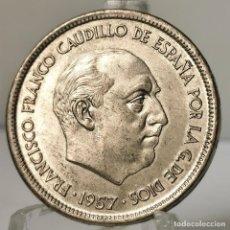 Monedas Franco: ⚜️ 25 PESETAS 1957 *68. EBC+. AC382. Lote 257545855