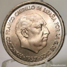 Monedas Franco: ⚜️ 25 PESETAS 1957 *67. SIN CIRCULAR MENOS. PRECIOSO COLOR. AC378. Lote 257546450