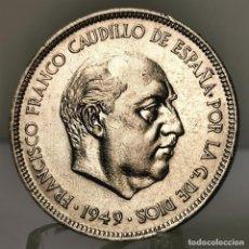 Monedas Franco: ⚜️ 5 PESETAS 1949 *49. SIN CIRCULAR MENOS. AC374. Lote 257546820
