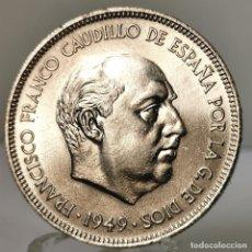 Monedas Franco: ⚜️ 5 PESETAS 1949 *49. SIN CIRCULAR. AC373. Lote 257546875