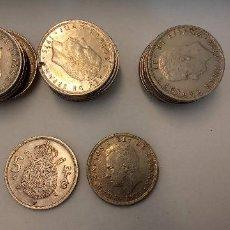 Monedas Franco: LOTE DE 28 MONEDAS. JUAN CARLOS I REY DE ESPAÑA. 25 PESETAS.. Lote 257659815
