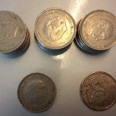 Monedas Franco: LOTE DE 25 MONEDAS. FRANCISCO FRANCO CAUDILLO. CINCO PESETAS.. Lote 257661225