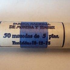 Monedas Franco: CARTUCHO CON 50 MONEDAS DE 5 PESETAS.. Lote 257666400