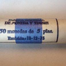 Monedas Franco: CARTUCHO CON 50 MONEDAS DE 5 PESETAS.. Lote 257666545
