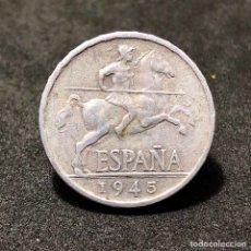 Monedas Franco: MUY CUIDADA MONEDA DE 5 CÉNTIMOS DE 1945 -EBC. Lote 257886035