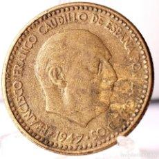 Moedas Franco: ⚜️ 1 PESETA 1947 *52. AC460. Lote 258148935