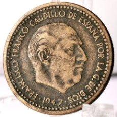 Moedas Franco: ⚜️ 1 PESETA 1947 *49. AC440. Lote 258157680