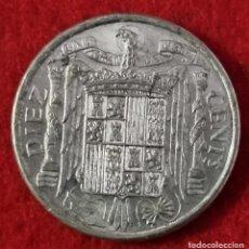 Monedas Franco: MONEDA 10 CENTIMOS 1940 EBC- ESCASA OJO PLUS CON V ORIGINAL C4. Lote 258965435