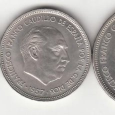 Monedas Franco: SERIE BA ( BARCELONA ) 5 - 25 - 50 PESETAS 1957 / I EXPO. IBEROAMERICANA NUMISMATICA - EBC+/ S/C-. Lote 259168835