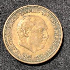 Monedas Franco: MONEDA DE 2,50 PESETAS DE 1953 ESTRELLA DEL 54. EBC. Lote 259282865