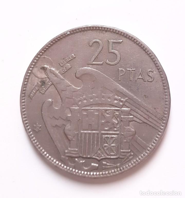 25 PESETAS FRANCO 1957 65 ESTADO ESPAÑOL (Numismática - España Modernas y Contemporáneas - Estado Español)