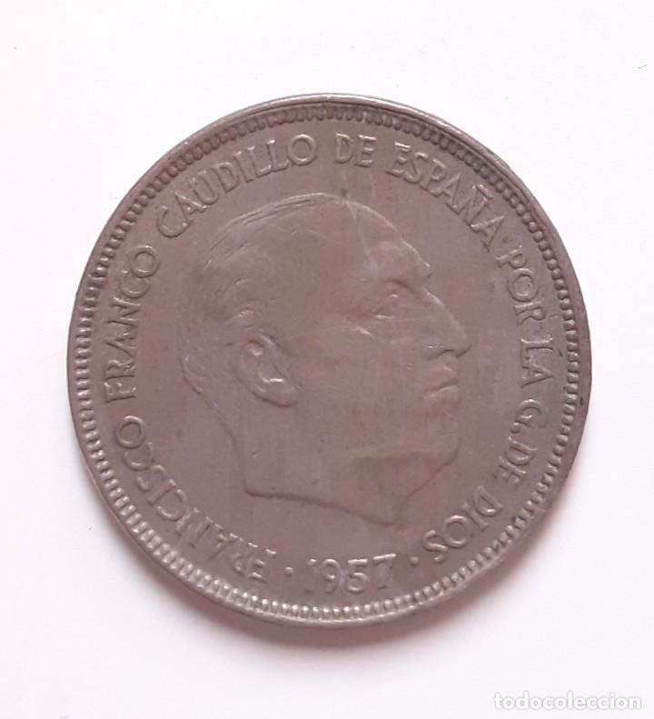 Monedas Franco: 25 PESETAS FRANCO 1957 65 ESTADO ESPAÑOL - Foto 2 - 259774165