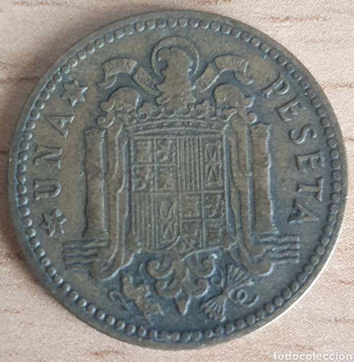 Monedas Franco: PESETA 1947 ESTRELLA 51. MUY ESCASA - Foto 2 - 260265165
