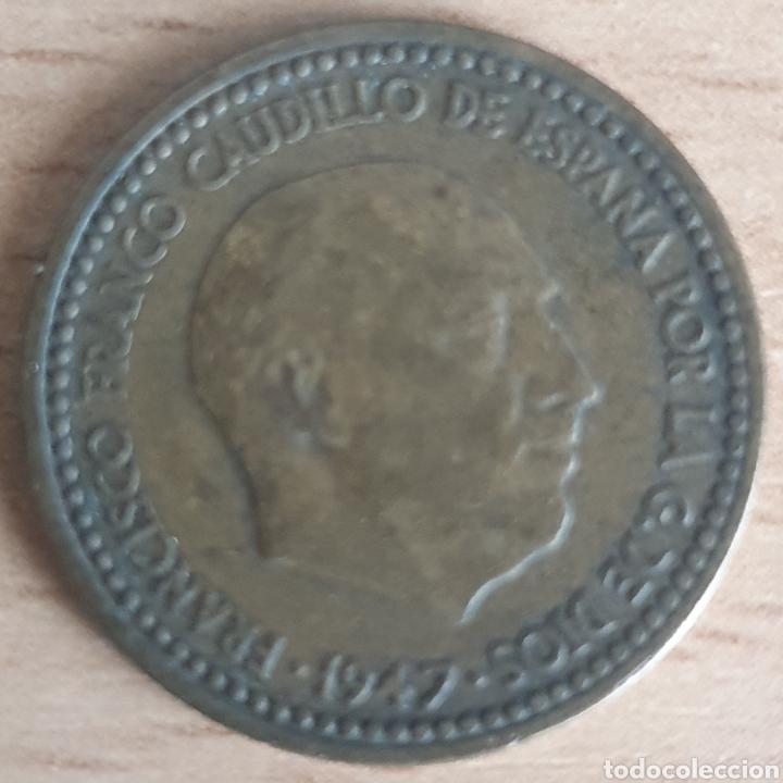 PESETA 1947 ESTRELLA 51. MUY ESCASA (Numismática - España Modernas y Contemporáneas - Estado Español)