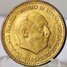 Monedas Franco: ⚜️ 1 PESETA 1963 *64. SIN CIRCULAR. AC556. Lote 260771560