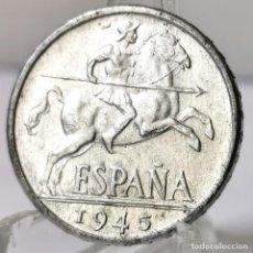 Monedas Franco: ⚜️ 10 CÉNTIMOS 1945. SIN CIRCULAR MENOS. AC553. Lote 260771785