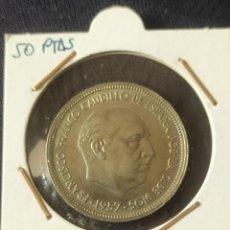 Monedas Franco: LOTE 50 PTAS. FRANCO 1957. Lote 260819425