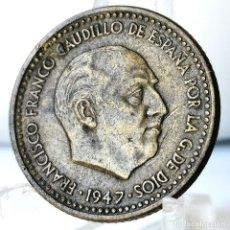 Monedas Franco: ⚜️ 1 PESETA 1947 *49. AC585. Lote 261639340